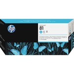 HP 81 Cyan Printhead/Cleaner HEWC4951A