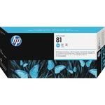 HP 81 Cyan Printhead/Cleaner HEWC4951A