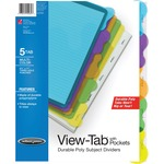 Wilson Jones View-Tab Sublect Divider with Pockets WLJ55082