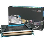 Lexmark Cyan Return Program Toner Cartridge LEXC734A1CG