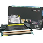 Lexmark Yellow Return Program Toner Cartridge LEXC734A1YG