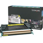 Lexmark Toner Cartridge - Yellow LEXC736H1YG