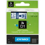 Dymo Blue on White D1 Label Tape DYM45014