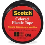 Scotch Extra Stretchy Colored Plastic Tape MMM190BK