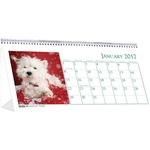 House of Doolittle Puppies Desktop Tent Calendar HOD3659