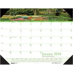 House of Doolittle Earthscapes Gardens of the World Desk Pad Calendar HOD1746-BULK