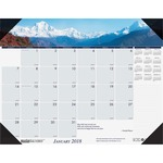 House of Doolittle Earthscapes Mountains of the World Desk Pad Calendar HOD1766