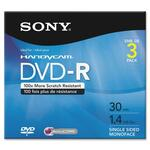 Sony DVD Recordable Media - DVD-R - 1.40 GB - 3 Pack SON3DMR30R1H