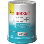 Maxell CD Recordable Media - CD-R - 48x - 700 MB - 100 Pack Spindle MAX648200