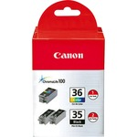 Canon Ink Cartridge - Assorted, Cyan, Magenta, Yellow CNMPGI35CLI36