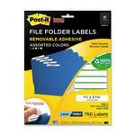 Post-it Super Sticky File Folder Label MMM2100G