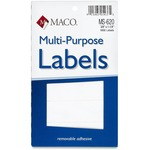 Maco MS-620 Multipurpose Removable Self-sticking Labels MACMS620-BULK