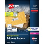 Avery Weather Proof Mailing Label AVE5520