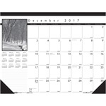 House of Doolittle Black on white Desk Pad Calendar HOD1226