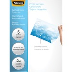 Fellowes Self-Adhesive Pouches - Photo, 5 pack FEL5220401