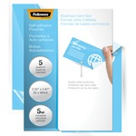 Fellowes Self-Adhesive Pouches - ID Tag Punched with Clip, 5 Pack FEL5220701