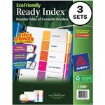 Avery EcoFriendly Ready Index Table of Contents Divider AVE11080