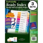 Avery EcoFriendly Ready Index Table Of Contents Divider AVE11082