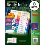 Avery EcoFriendly Ready Index Table Of Contents Divider AVE11083