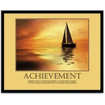 """Achievemant"" Framed Motivational Print, 24 x 30 AVT78081"