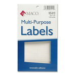 MACO White Multi-Purpose Labels MACMS610