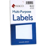 MACO White Multi-Purpose Labels MACMS812
