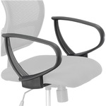 Safco Vue Extended Height Mesh Chair Loop Arms SAF3396BL