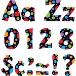 Trend Ready Letters with Neon Dots TEP79754