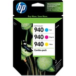 HP 940 3-pack Cyan/Magenta/Yellow Original Ink Cartridges HEWCN065FN