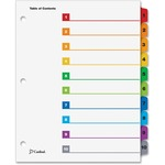 Cardinal OneStep Printable Table of Contents Dividers CRD61018CB