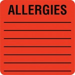 Tabbies Square Allergies Label TAB40560