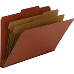 Smead 19023 Red 100% Recycled Pressboard Colored Classification Folders SMD19023