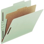 Smead 18722 Gray/Green 100% Recycled Pressboard Colored Classification Folders SMD18722