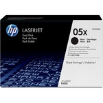 HP 05X (CE505XD) 2-pack High Yield Black Original LaserJet Toner Cartridges HEWCE505XD