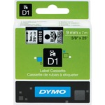 Dymo Black on Clear D1 Label Tape DYM40910
