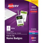 Avery Fold & Clip Name Badge AVE74554