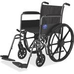 Medline Excel K1 Basic Full Length Permanant Arm Wheel Chair MIIMDS806150EE