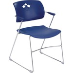 Safco Veer Flex Back Stack Chair with Arm SAF4286BU