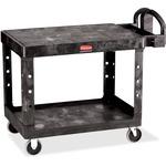 Rubbermaid 4525 HD 2-Shelf Utility Cart Flat Shelf (Med) RCP452500BK