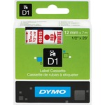 Dymo Red on White D1 Label Tape DYM45015