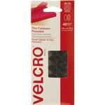 Velcro Black Wafer-thin Fasteners VEK91385