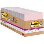 Post-it Recycled Super Sticky Notes in Farmers Market Colors MMM65424NHCP