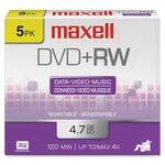 Maxell DVD Rewritable Media - DVD+RW - 4x - 4.70 GB - 1 Pack Jewel Case MAX634012