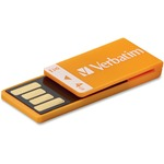 Verbatim 4GB Clip-It USB Flash Drive - Orange VER97551