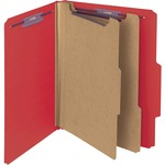 Smead 14202 Bright Red PressGuard Classification File Folder with SafeSHIELD Fasteners SMD14202