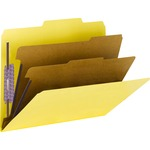 Smead 14203 Yellow PressGuard Classification File Folder with SafeSHIELD Fasteners SMD14203