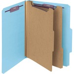 Smead 14204 Blue PressGuard Classification File Folder with SafeSHIELD Fasteners SMD14204