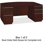 bbf Milano 2 Series Bow Front Pedestal Desk Box 1 of 2 BSH50DBF72A1CS