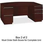 bbf Milano 2 Series Bow Front Pedestal Desk Box 2 of 2 BSH50DBF72A2CS