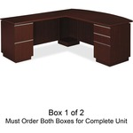Bush Business Furniture Milano2 72w Lh L-station Box 1 Of 2